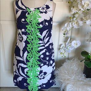 Lily Pulitzer green and navy sleeveless dress sz 6